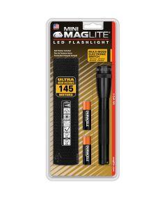 Mini Maglite LED Flashlight, Black, 2AA
