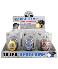 10 LED Headlamp, Assorted Colors