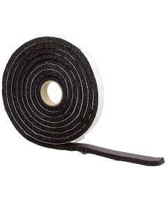 1/4 in. x 1 in. x 10 ft. Black High Density Sponge Rubber Foam