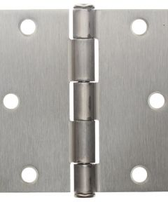 3.5 in. Satin Nickel Square Corner Plain Bearing Butt Hinge