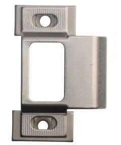 2 3/4 in. Satin Nickel Adjustable Latchbolt Strike Plate