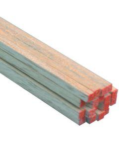 Balsa Wood Strip, 36 in L x 1/8 in W x 1/8 in T