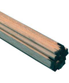 Balsa Wood Strip, 36 in L x 1/4 in W x 1/8 in T