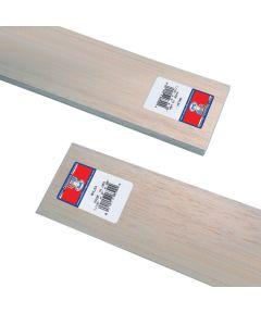 Balsa Wood Sheet, 36 in L, 3 in W, 1/16 in H