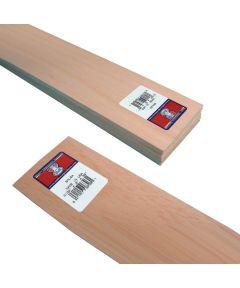 Balsa Wood Sheet, 36 in L, 3 in W, 3/32 in H