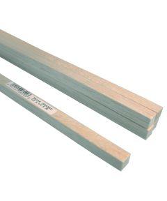 Balsa Wood Strip, 36 in L x 1/2 in W x 1/2 in T