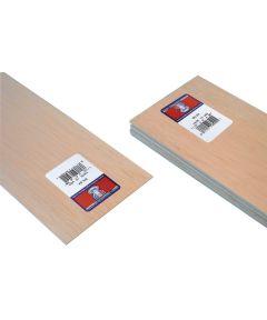 Balsa Wood Sheet, 36 in L, 4 in W, 1/16 in H