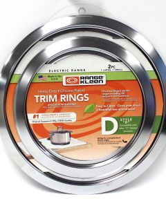 Chrome Trim Ring D 2-Pk 6 in.-8 in.