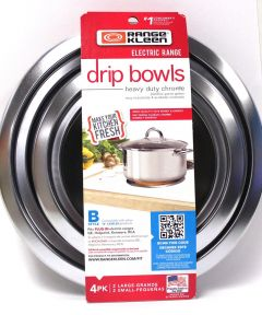 Chrome Drip Bowl B 4-Pk 6 in.-8 in.