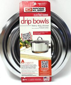 Chrome Drip Bowl A 4-Pk 6 in.-8 in.