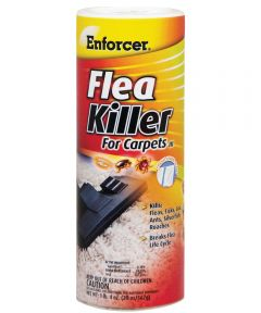 Flea Killer, 20 oz Can, White, Powder
