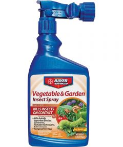 Bayer Advanced Vegetable and Garden Insect Spray, 32 oz Can, White to Light Beige, Liquid