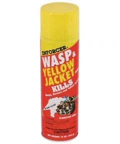 Wasp and Yellow Jacket Foam, 16 oz., Aerosol Can, Liquid, Clear, Mild