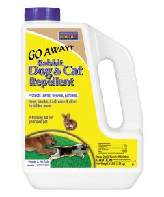 Go Away Rabbit/Dog and Cat Repellent, 3 lb., Gray, Granular, Fragrant, 900 sq-ft