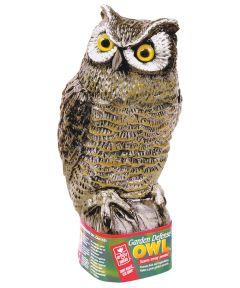Garden Defense Owl, 7 in. (Dia) 8 in. (W) x 16 in. (H), Polyethylene, Multi-Color