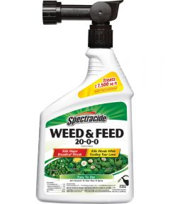 Spectracide Weed and Feed Killer, 32 oz., 5000 sq-ft., Light Yellow to Brown, Liquid