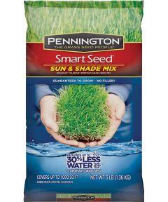 Smart Seed Grass Seed, Sun/Shade, 3 lb.