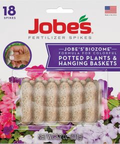 Jobe's Potted Plants and Hanging Baskets Spike, Blister Card, Tan to Light Gray