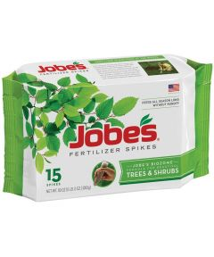 Jobe's Fertilizer Spike, Pack, Gray to Light Brown, Solid, 15 Pack