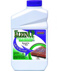 KleenUp Concentrate Weed and Grass Killer, 1 Qt, Amber/Light Brown, Liquid
