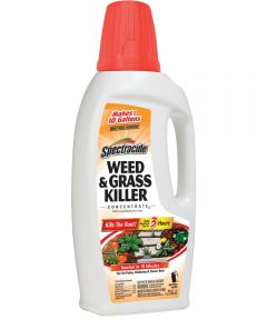 Spectracide Concentrate Weed and Grass Killer, 32 oz., Bottle, Amber, Liquid