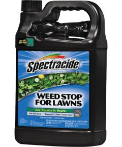 Spectracide Ready-To-Use Weed Stop, 1 gal, Bottle, Clear/Light Yellow, Liquid