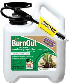 BurnOut Fast Acting Weed and Grass Killer with Pump & Spray, 1 Gallon