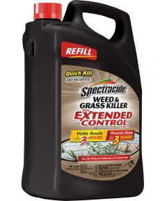 Spectracide Weed and Grass Killer With Extended Control, 1.33 gal, Light-Yellow To Brown, Liquid