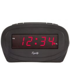 Black LED Alarm Clock