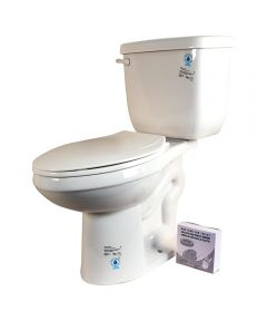 High-Efficiency Toilet To Go,  ADA front, 1.28 GPF