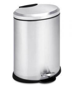 12 Liter Stainless Steel Oval Step Trash Can