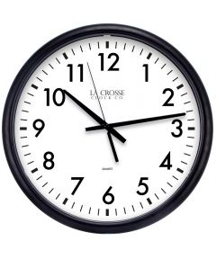 13.5 in. Black Quartz Wall Clock