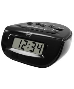 3.5 in. Black Digital Alarm Clock