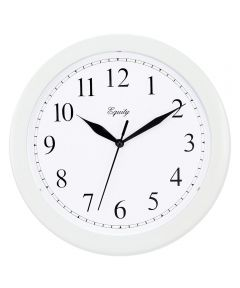 10 Inch Wall Clock, White