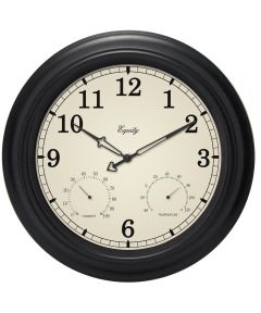 15.5 in. Analog Wall Clock With Temperature And Humidity