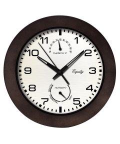 10 in. Brown Indoor & Outdoor Wall Clock