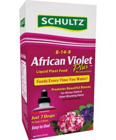 Schultz African Violet Plant Food, 4 oz., Container, Light Blue, Liquid