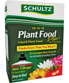 Schultz All-Purpose Fast Release Plant Pood, 8 oz., Bottle, Light Blue, Liquid