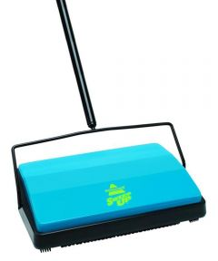 Carpet Floor Sweeper, Plastic, Blue