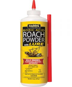 Harris Roach Killer, 16 oz Bottle, White, Powder