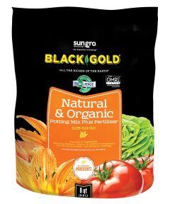 Black Gold 8 Quart Natural & Organic Potting Mix Plus Fertilizer 0.05-0.0-0.0