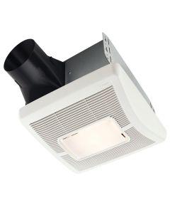 70 CFM White Single-Speed Bath Fan Light