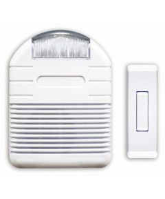 White Wireless Doorbell With Strobe light kit