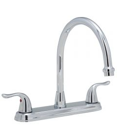 2-Handle Kitchen Faucet, Less Spray, 1.8 GPM, Chrome