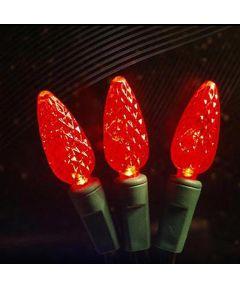 210 Red C6 LED Christmas Lights Spool