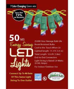 50 Color Changing LED Christmas Lights String Set