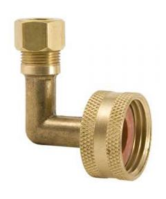 3/8 in. x 3/4 in. Brass Dishwasher 90 Degree Elbow Hose Adapter