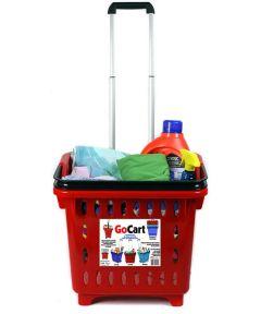 GoCart Rolling Shopping Basket, Red
