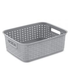 15 in. x 12.25 in. x 5.25 in. Cement Short Weave Basket