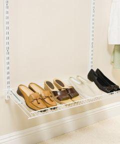 White Add-On Shoe Shelf Kit